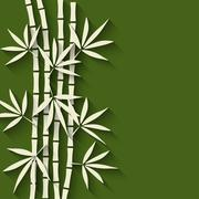 Bamboo green background Stock Illustration