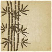 Bamboo old background Stock Illustration