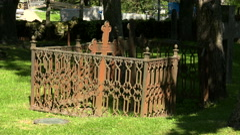 Cemetery in Lappeenranta. Finland. 4K. Stock Footage