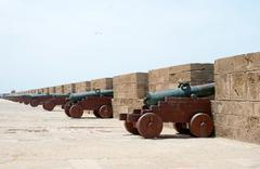 cannons essaouira - stock photo