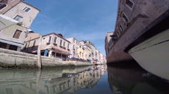 Gopro Venice,, shooting on a boat across the island Stock Footage