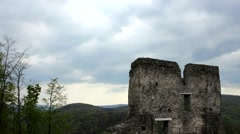 Timelapse video of Pustý hrad, Slovakia Stock Footage