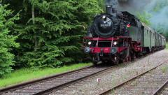 Old train is coming Stock Footage