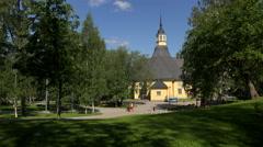 The Church in Lappeenranta. Finland. 4K. Stock Footage