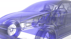 X ray car animation Stock Footage