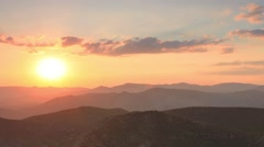 Timelapse sunset in the mountains Sokol. Noviy Svet, Crimea, Russia. Stock Footage