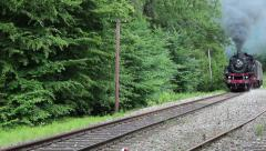 Old train is passing by Stock Footage