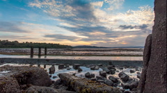 Edinburgh - Crammond Sunset - stock footage