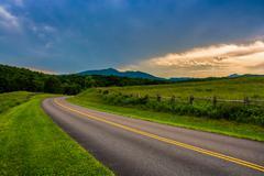 the blue ridge parkway, near blowing rock, north carolina. - stock photo