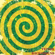 retro vintage grunge spiral background. vector - stock illustration