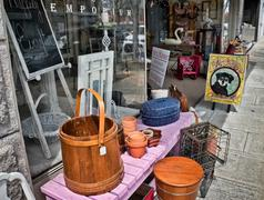 downtown lexington nc - stock photo