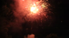 Colorful Majestic Firework Display Stock Footage