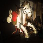 antique rocking horse - stock photo
