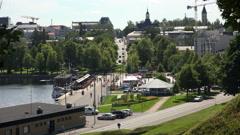 Lappeenranta. City streets. Finland. 4K. Stock Footage