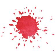 Red blot isolated on white for your design Stock Photos