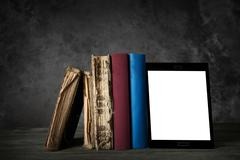 Evolution of reading Stock Photos