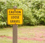 loose gravel sign - stock photo