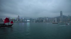 Hong Kong BRoll- Historic Ship in harbor Stock Footage