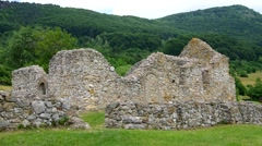 The ruins of the church - Hussite Church Stock Footage