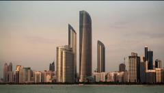 Stock Video Footage of Abu Dhabi Corniche Day to Night Timelapse