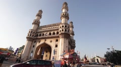 Hyderabad, India B Roll- Monument Stock Footage