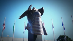 Navy memorial eagle statue. Stock Footage