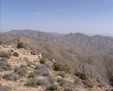 Panoramic view at Coachella Valley from Keys View, desert California Stock Footage