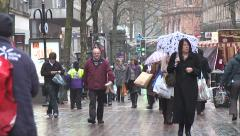 Birmingham Shopping street Stock Footage