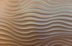 the wave pattern concrete wall - stock photo
