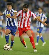 Raul Garcia(R) of Atletico Madrid Stock Photos