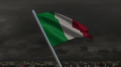 Italian Flag Animation Stock Footage