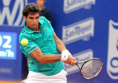Spanish tennis player Pablo Andujar Stock Photos