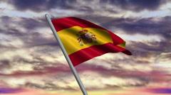 Spanish Flag Animation Stock Footage