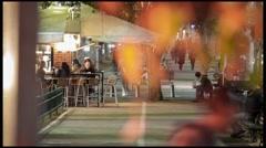 Tel Aviv Rotshild bvd night timelapse 1213 2 4K Stock Footage