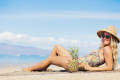 beach fashion concept - stock photo
