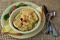 Chicken Pot Pie Dinner - stock photo