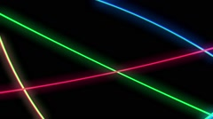 Neon Colorful Line 02 Stock Footage
