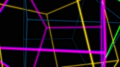 Neon Color Line 05 - stock footage