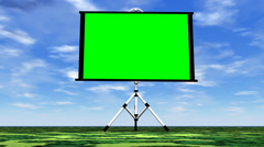 Green screen in nature - 3D render Stock Footage