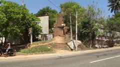 MIRISSA, SRI LANKA - MARCH 2014: The view of a street in Mirissa. Stock Footage