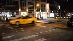 New York Street Nightime - stock footage