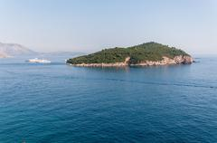 the lokrum island on the adriatic sea in croatia - stock photo