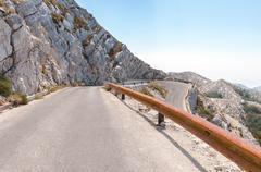 winding road in biokovo mountains. - stock photo