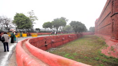 Delhi Red Fort Wall Stock Footage