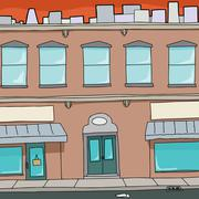Cartoon apartment building Stock Illustration