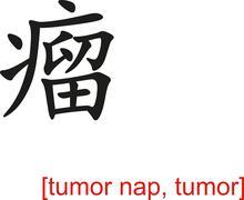 Chinese Sign for tumor nap, tumor - stock illustration