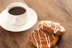 Coffee with danish pastries Stock Photos