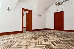 interior of empty classic room - stock photo