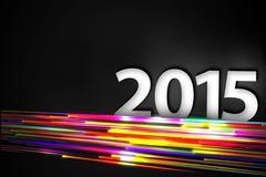 2015 Bottom Rainbow straight Line Glow Dark Backgroundound Stock Illustration