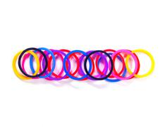 Colorful rubber band minus symbol. with white isolate, Stock Photos